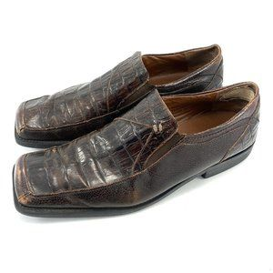 Fratelli Alligator Leather Loafers Dress Shoes